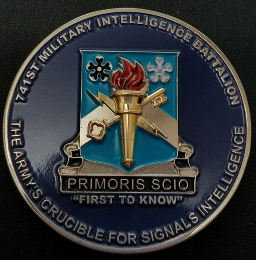 741st Military Intelligence Battallion Command Team Challenge Coins Frontside