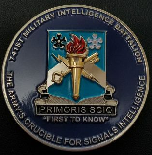 741st Military Intelligence Battallion Command Team Challenge Coins Frontside