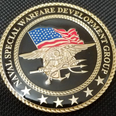 Rare current JSOC Tier 1 US Navy SEAL Team 6 NSWDG DEVGRU CB Seabee Det Facilities Challenge Coin