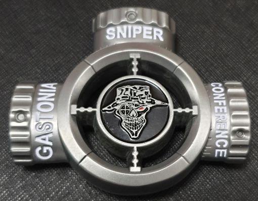 2018 Gastonia Police Sniper Conference The Tactical Farm training and events Scope shaped challenge coin