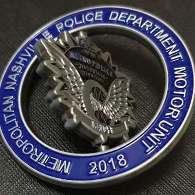 Metropolitan Nashville Police Department Motor Unit spinner coin 2