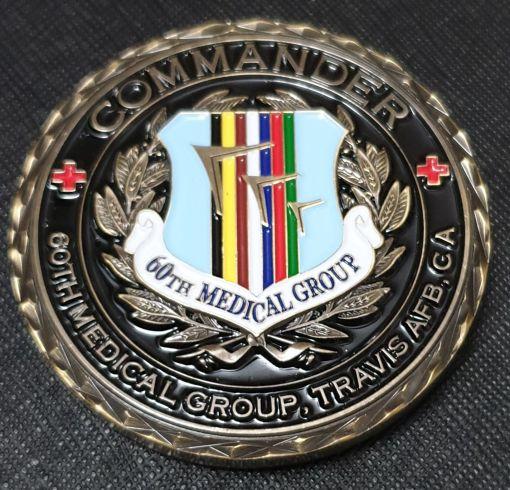USAF 60th medical Group David Grant Medical Center commanders coin back
