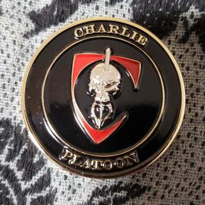 Authentic Rare Seal Delivery Vehicle Team One SDVT-1 Charlie Platoon seal team challenge coin front