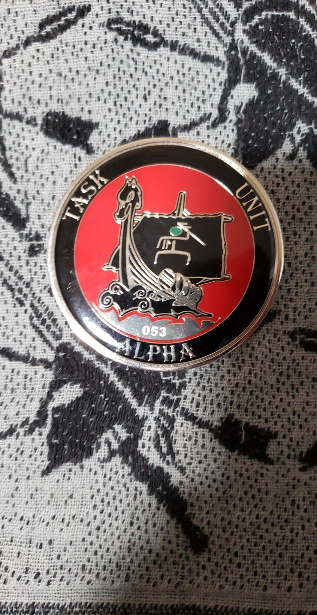 Seal Delivery Vehicle Team One SDVT-1 Task Unit Alpha Large Numbered 53 Authentic Rare Seal Team Challenge Coin back