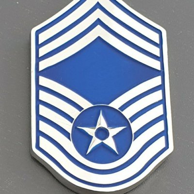 USAF CCMSGT Martinez Command Chief Rank Shaped Award Challenge Coin made by Phoenix Challenge Coins front