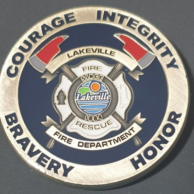Lakeville MN FD Challenge Coins Fire Department Challenge Coin made by Phoenix Challenge Coins