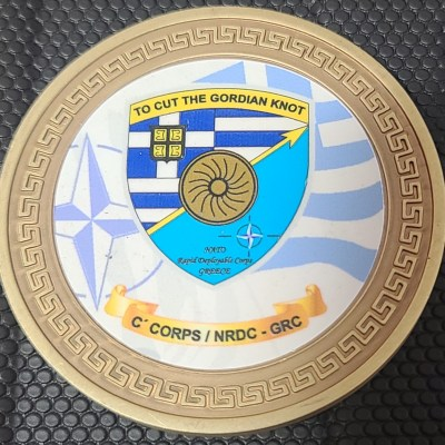 Greek III Hellenic Army Corps NATO Rapid Deployable Corps Greece NRDC-GR Commanding Lt. General Alkiviadis Stefanis Challenge Coin