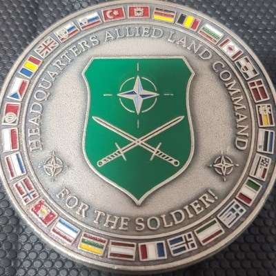 Headquarters Supreme Allied Land Command UK rotation Senior Enlisted Leader CSM Challenge Coin