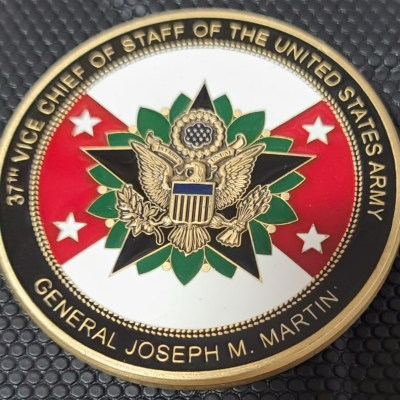 US Army 37th Vice Chief Of Staff of the Army General Joseph M Martin Challenge Coin