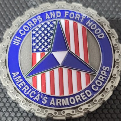US Army III Corps and Fort Hood Commanding Team Challenge Coin