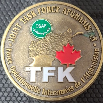 Joint Task Force Afghanistan Canadian rotation CG Commandant Commanders Coin