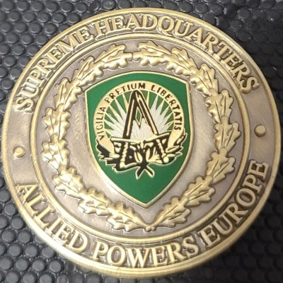 Supreme headquarters Allied Powers Europe Vice Chief of Staff Challenge Coin