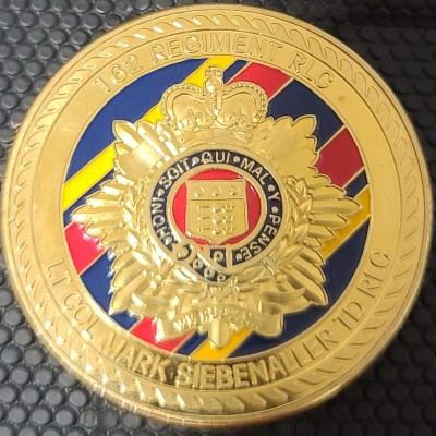 United Kingdom Army 162 Regiment RLC Royal Logistics Corps Commander Challenge Coin