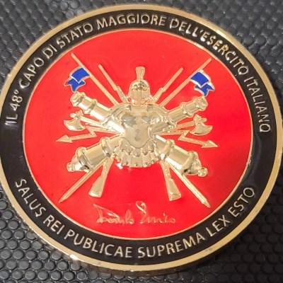 Chief of Staff of the Italian Army il 48 del capo stato maggiore dell'esercito Italiano general CA Denilo Errico Challenge Coin