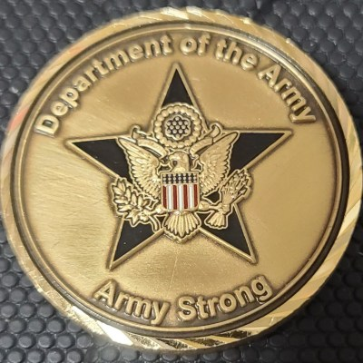 US Army Director of the Army Staff CG Challenge Coin