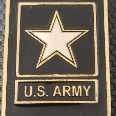 US Army Office of the Secretary Chief of Public Affairs MG and CSM Command Team Dog Tag Shaped Challenge Coin