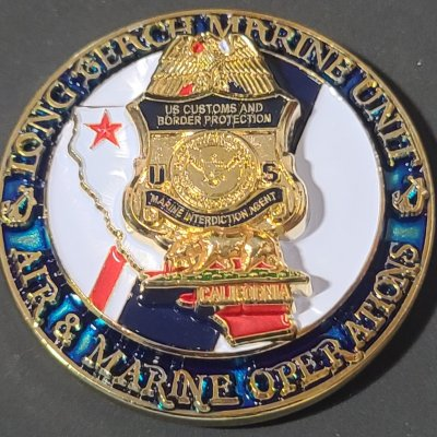 USCBP AMO US Customs and Border Patrol Air and Marine Operations Port of Long Beach CA Challenge Coin