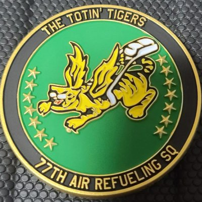 USAF 77th ARS Air Refueling Squadron KC-46-A Pegasus Delivery Challenge Coin made by Phoenix Challenge Coins
