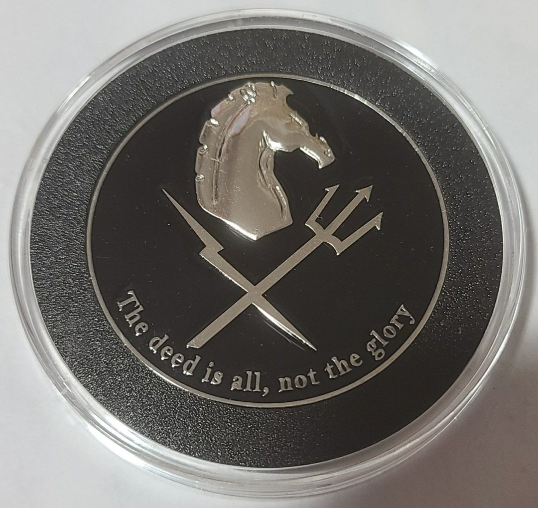 Rare Current Version NSW Tactical Development and Evaluation Squadron One Challenge Coin back