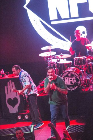 New Found Glory on their Fall 2015 U.S. Tour at Livewire in Scottsdale, AZ on October 8, 2015.