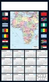 2021 Africa Map Poster