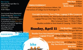 Bike MS Schedule of Events