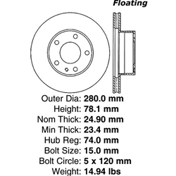 BR 34009P Manufactured to meet QS and ISO Quality System