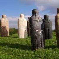 Reflective Man Memorial Stone Sculpture - Devon