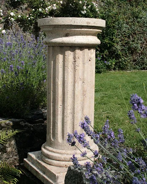 Travertine Fluted Column Garden Memorial