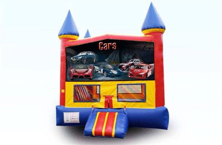 cars bouncy rental
