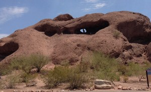 Image of the Hole in the Wall at Papago Park