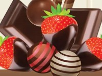 Image of chocolate candy and strawberries