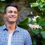 Man outside healthy and happy
