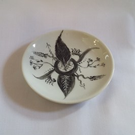 Painted ceramic dish by Irene Perkin