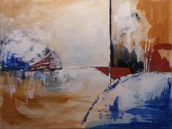 Acrylic abstract by Kate Paul