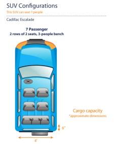 Cadillac Escalade Seating Chart