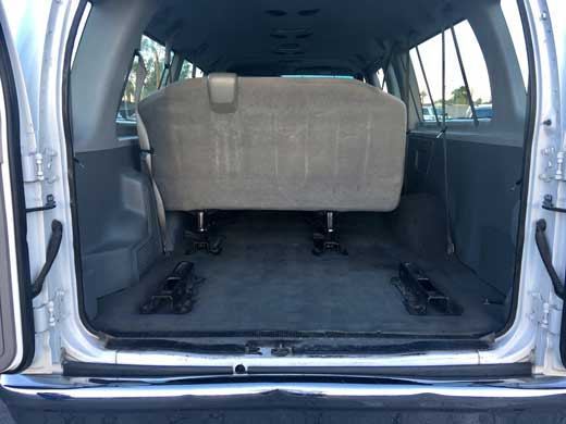 Image of cargo area of Ford E-350 Passenger Van