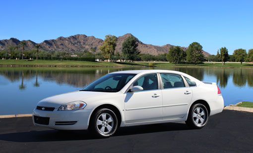 White Chevrolet Impala for Rent