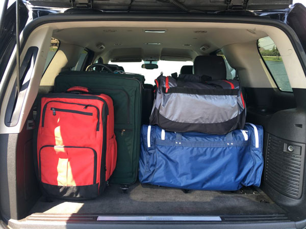 Image of Luggage Space in the Cadillac Escalade for rent in Phoenix, Arizona