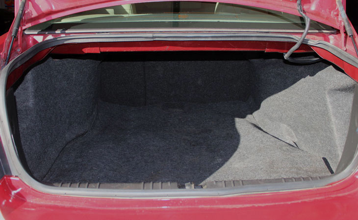 Trunk Space Chevrolet Impala for rent