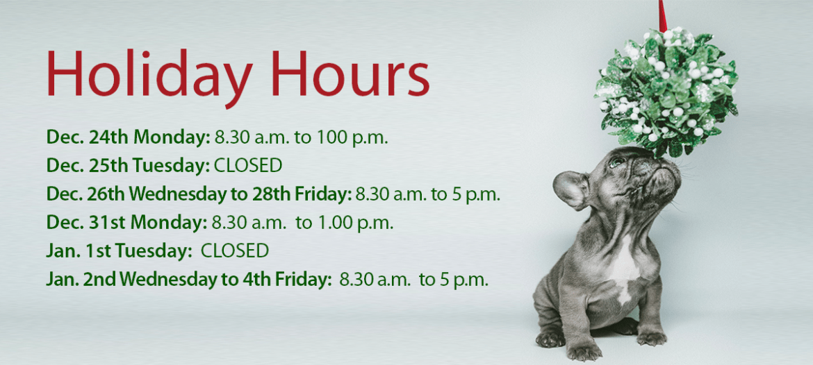Phoenix Rising Integrative Vet Care, Holiday Hours