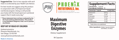 A total approach to digestion and increased absorption. A Broad Spectrum Maximum Digestive Enzyme Formula to support the Digestion of Proteins, Fats, and Carbohydrates. Naturally adjust the pH of the Stomach to a Healthy Acidic State, Setting the Stage for Increased Natural Enzyme Production in the Small Intestine. Provides Enzyme Precursor Agents rather than Whole Enzymes to prevent dependence. This is the best maximum digestive enzyme in the world.