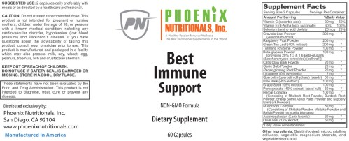 The Best Immune Support for the human immune system. Our Immune System is on guard to protect us 24 hours a day, but we rarely consider taking care of it. Most Supplement Formulas for the Immune System are Designed to Stimulate Immune Function. This is only half the picture because if we over stimulate the Immune System it can lead to exhaustion. An Ideal Immune Support Formula would not only Stimulate Higher Immune Function but also provide nutrients to nourish and rebuild the entire system.