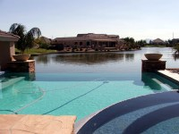 backyard-pool-and-lake-in-pinelakes  Phoenix Arizona ...