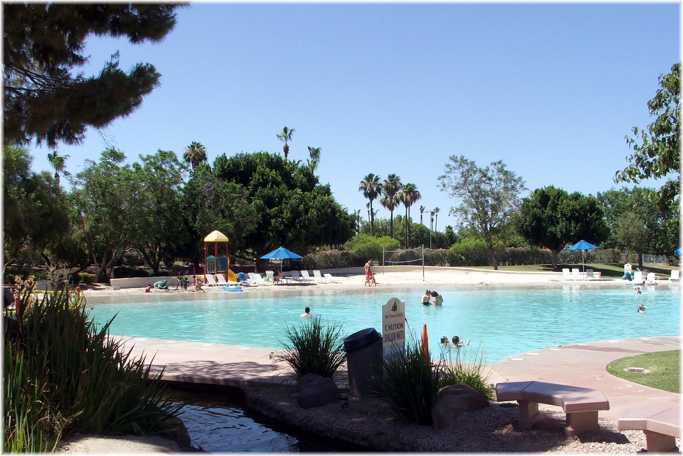 valvistalakesbeachpool  Phoenix Arizona Waterfront Homes