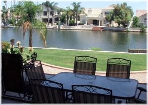 Backyard waterfront view