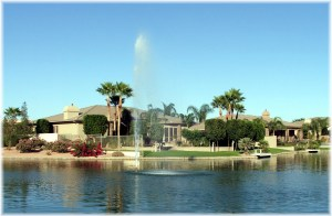 Ocotillo Lakes Water Fountain