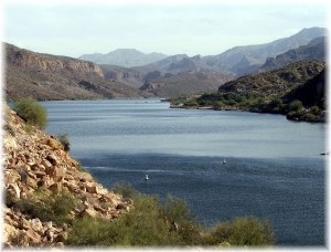 Canyon Lake in the Tonto National Forest