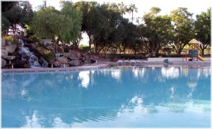 Baeach community pool in Val Vista Lakes