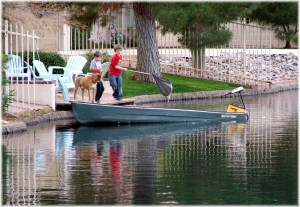 Pecos Ranch boating in waterfront community in Chandler
